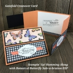 Gatefold Crossover Card with Botanical Butterfly created by Kay Kalthoff for #stampingtoshare