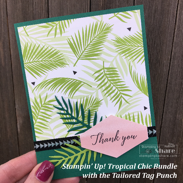 Stampin' Up! Tropical Chic by Kay Kalthoff for #stampingtoshare