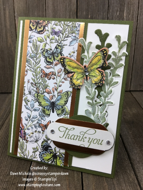 First Frost with Botanical Butterfly created by Dawn Michels Demo Meeting Swap for #stampingtoshare