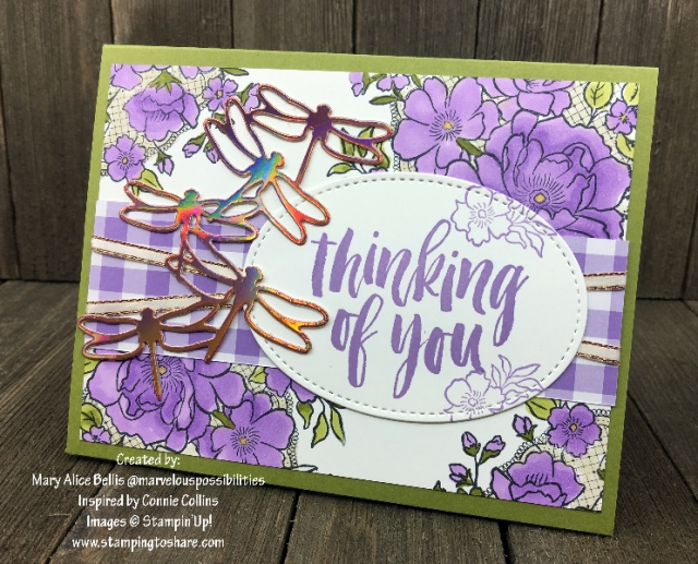 Lovely Lattice with Rooted in Nature created by Mary Alice Bellis for Demo Meeting Swap #stampingtoshare