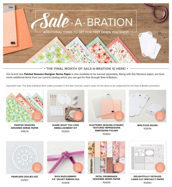 Sale-a-bration Additions for March 2019 all available at the $50 level #stampingtoshare