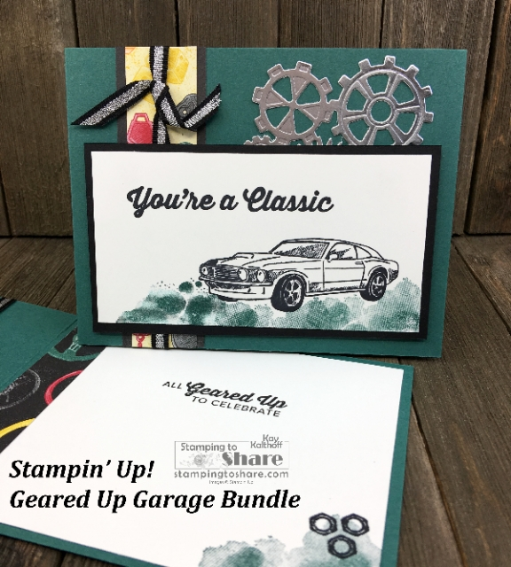 Stampin' Up! Geared Up Garage Bundle created by Kay Kalthoff for #stampingtoshare