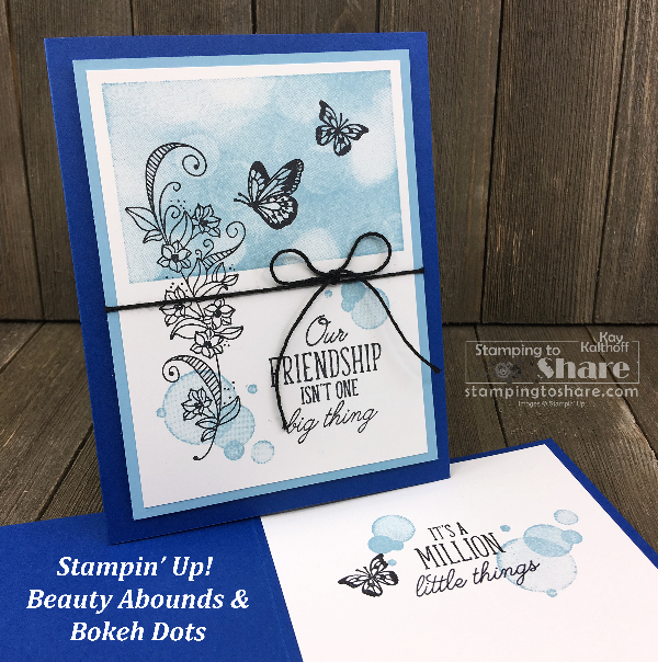 Stampin' Up! Beauty Abounds Bundle and Bokeh Dots by Kay Kalthoff for #stampingtoshare