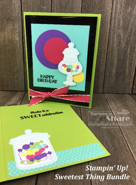 Stampin' Up! Sweetest Thing Bundle Birthday Card created by Kay Kalthoff for #stampingtoshare