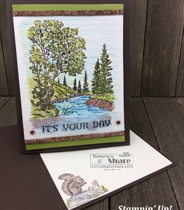 Stampin' Up! Peaceful Place with Watercolor Pencils
