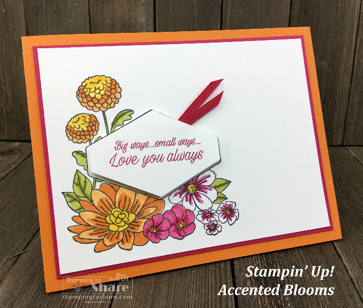Stampin Up! Accented Blooms – 3 Ideas for You!