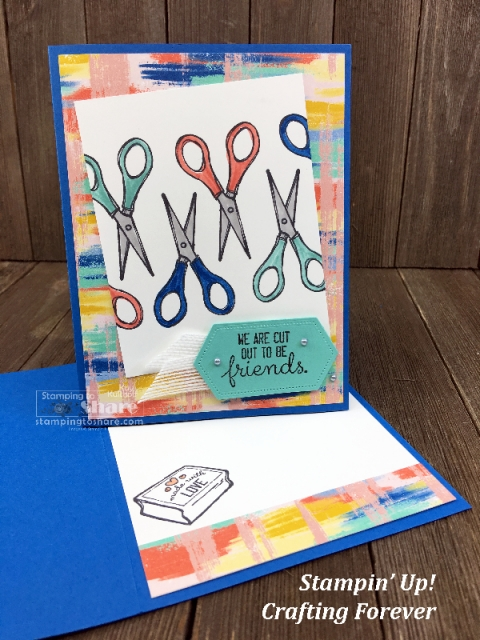Stampin' Up! Crafting Forever with Follow Your Art DSP by Kay Kalthoff with #stampingtoshare