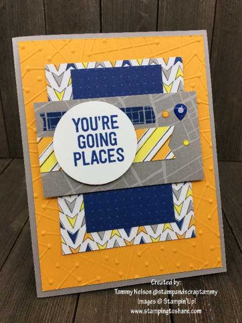 Stampin' Up! En Route created by Tammy Nelson for April Demo Meeting #stampingtoshare