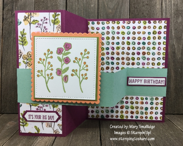 Stampin' Up! Love What You Do created by Mary Smallidge for April Demo Meeting Swap for #stampingtoshare