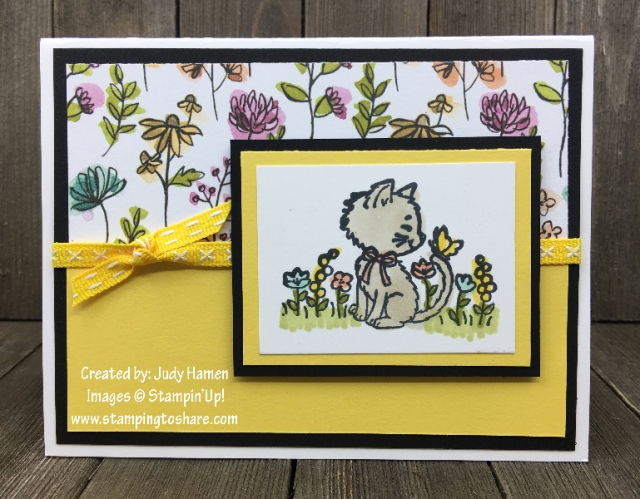 Stampin' Up! Pretty Kitty created by Judy Hamen for Demo Meetings Swaps for #stampingtoshare