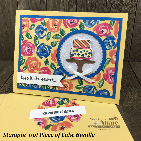 Stampin' Up! Piece of Cake Bundle created by Kay Kalthoff for Demo Meetings Swaps for #stampingtoshare
