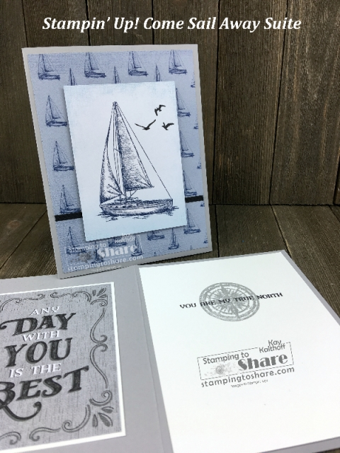 Stampin' Up! Come Sail Away Suite created by Kay Kalthoff for #stampingtoshare