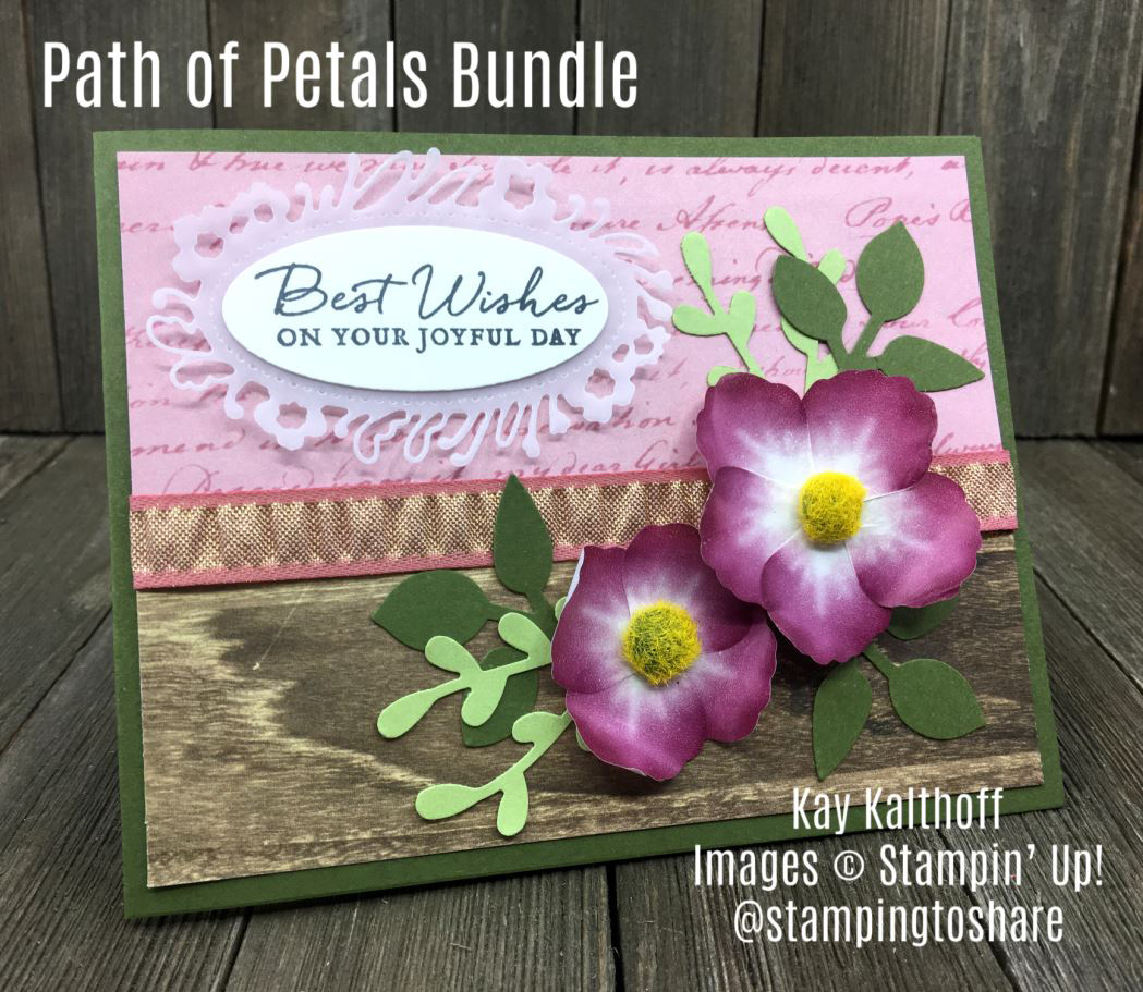 How to Make Cards with Path of Petals Bundle and Perennial Birthday
