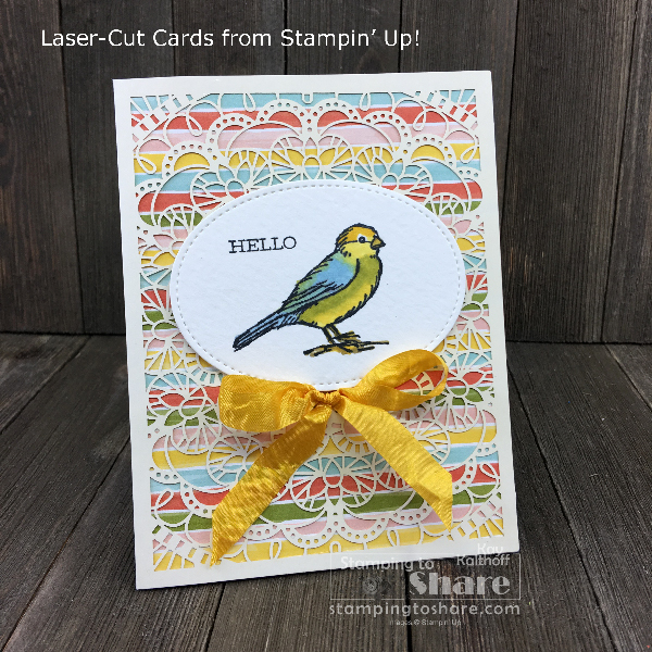 How to Use the Bird Ballad Laser-Cut Cards plus Last Day for Bonus Days and Double Happy Stamper Tokens!