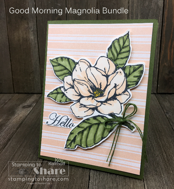 Stampin' Up! Good Morning Magnolia with the LARGE flower!