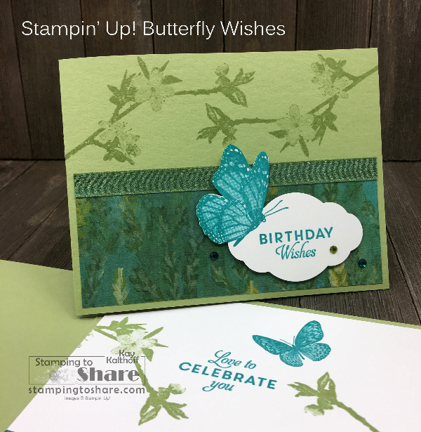 Stampin' Up! Butterfly Wishes for DistINKtive Stamping!