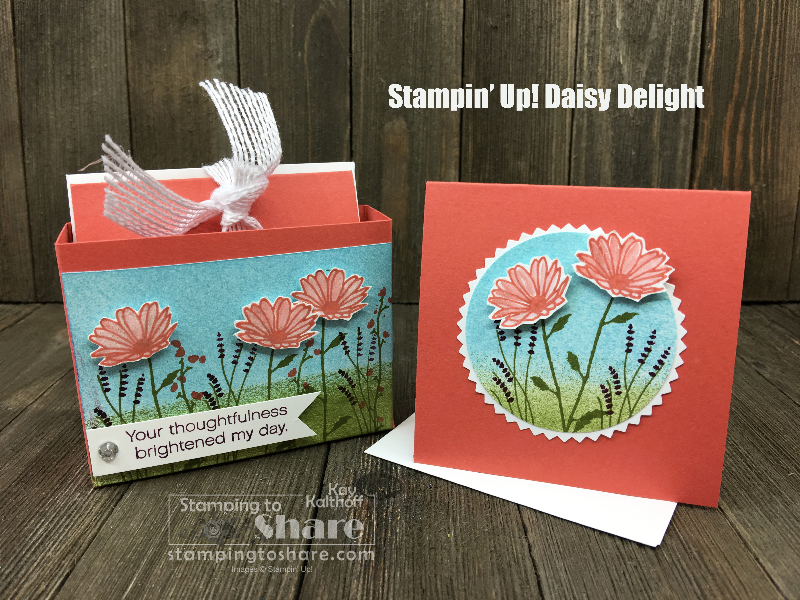 Cute Stampin' Up! Daisy Delight Box to Hold a Treat and 3×3 Cards
