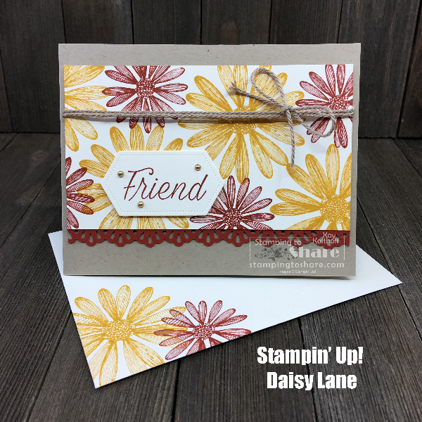 Fall Card with Stampin' Up! Daisy Lane