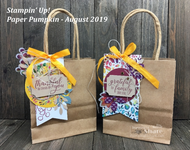 August 2019 Paper Pumpkin Kit by Stampin' Up!
