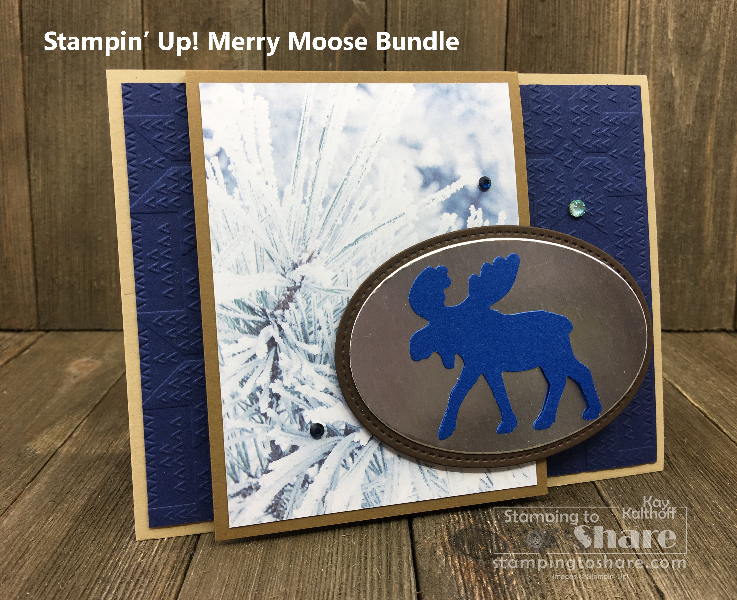 Stampin' Up! Merry Moose Bundle with Feels Like Frost 6×6 Specialty Paper