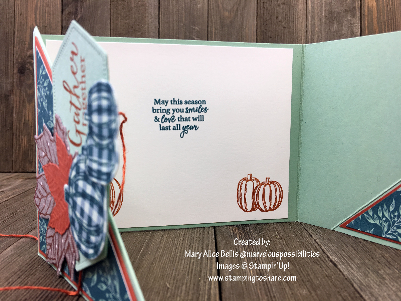 Stampin' Up! Gather Together inside panel by Mary Alice Bellis