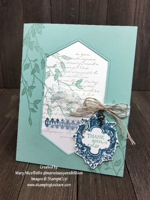 Stampin' Up! Very Versailles by Mary Alice Bellis