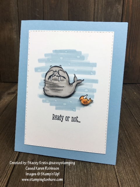 Stampin' Up! We'll Walrus Be Friends Part One by Stacey Krats