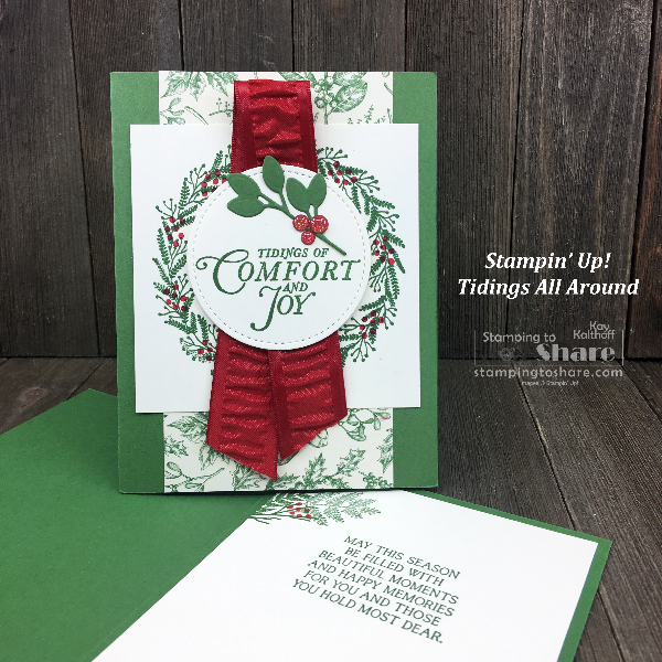 How to Make a Pretty Christmas Card with Stampin' Up! Tidings All Around