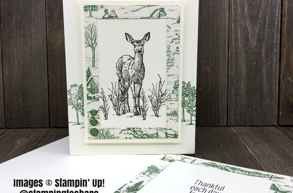 How to Make a Masculine Card with Stampin' Up! Nature's Beauty