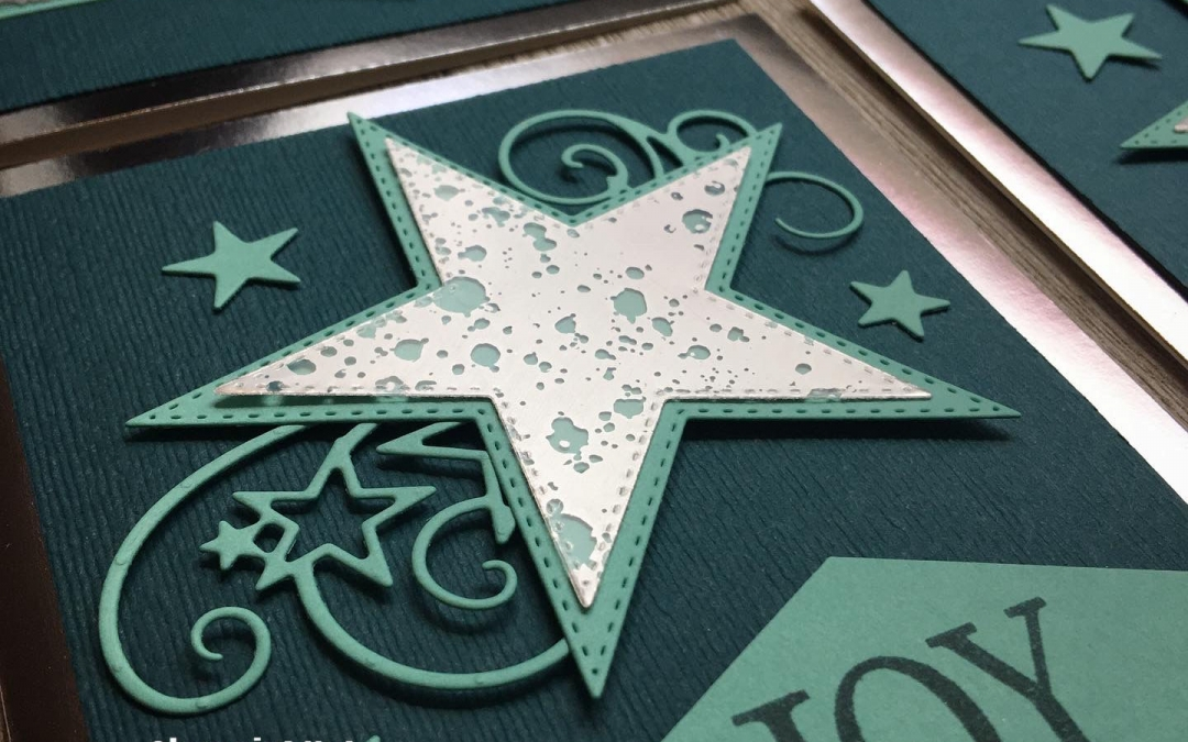 How to Make an Elegant Christmas Card with Stampin' Up! So Many Stars Bundle