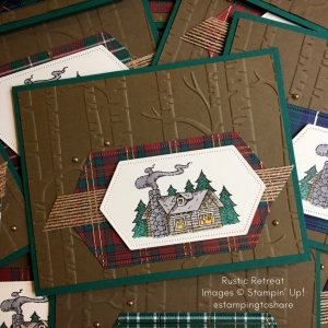 How to Make an Easy to Color Stampin' Up! Rustic Retreat Masculine Cabin Card