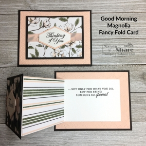Top Panel Z Fold with Good Morning Magnolia