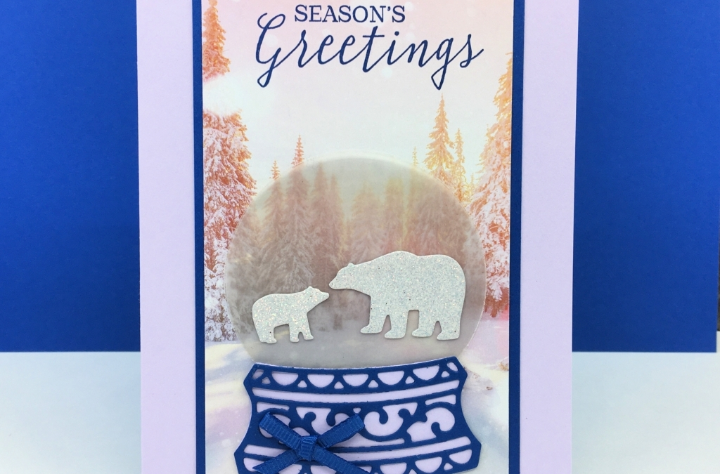 How to Make a Mailable Snow Globe Card with Still Scenes