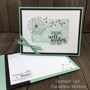 Stampin' Up! Dandelion Wishes Get Well Card