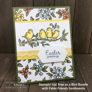 Stampin' Up! Free as a Bird Spring Cards with Fable Friends