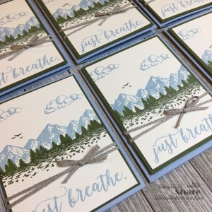 Stampin' Up! Mountain Air with Colorful Seasons Sentiments