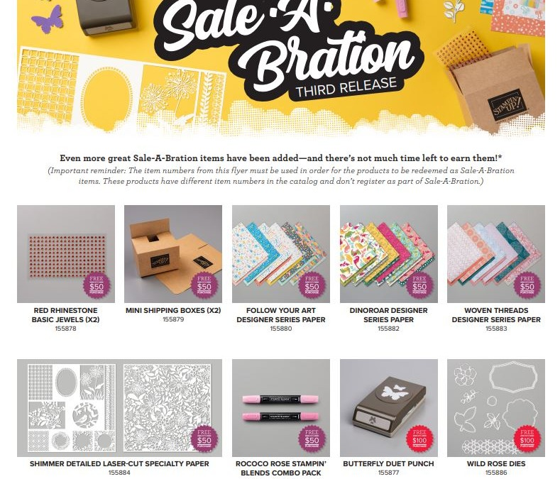 Final Sale-a-bration Week & We Got a Third Release!!