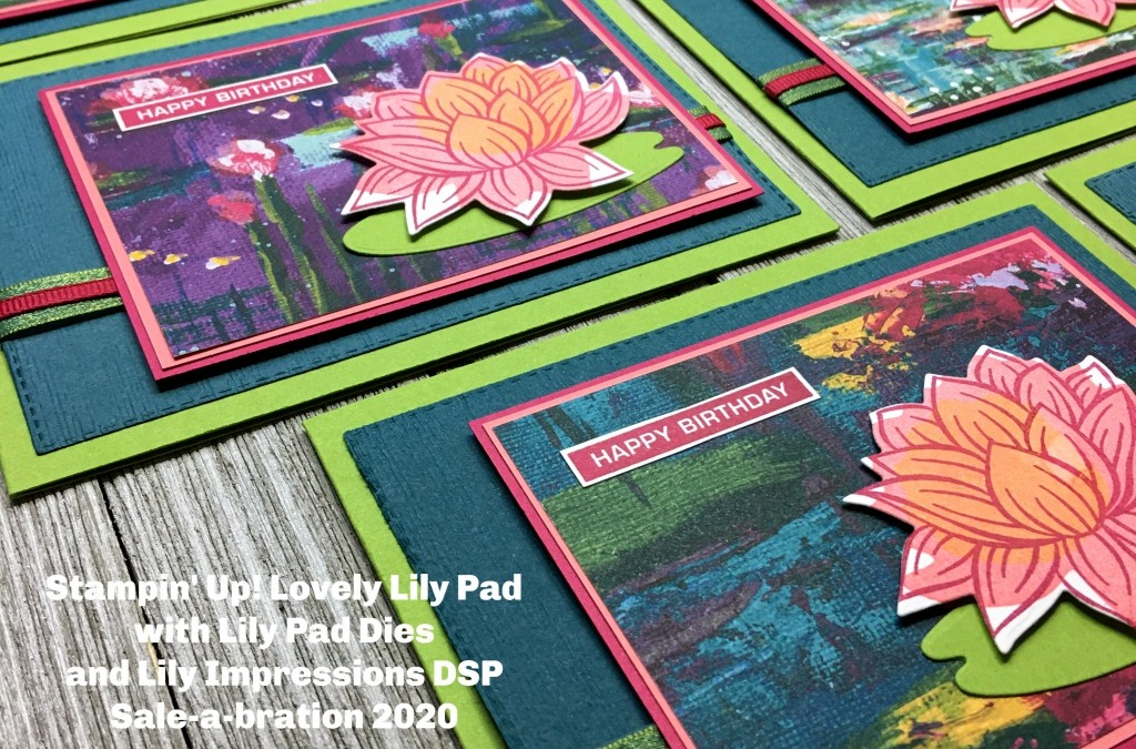 How to Use the Stampin' Up! Lovely Lily Pad Reversibles on a Birthday Card
