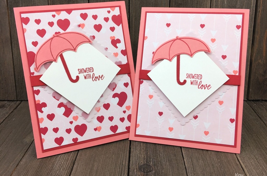 Make Bridal Shower Cards with Your Heart Paper and Under My Umbrella Bundle