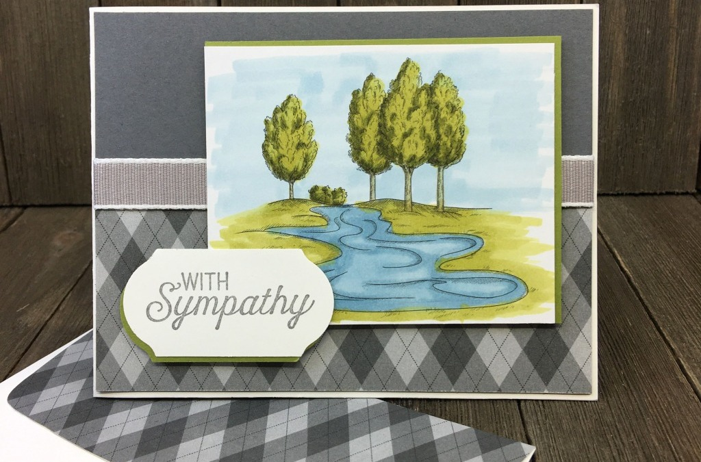 How to Make a Masculine Sympathy Card with Flourishing Phrases & Country Club DSP