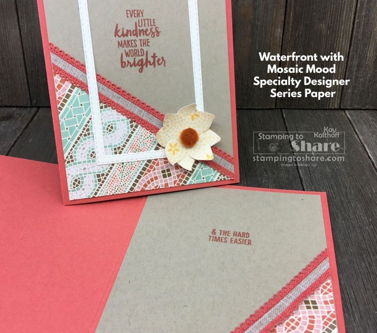 From Card Parts to Perfection! Make This Beauty with Waterfront and Mosaic Mood Paper