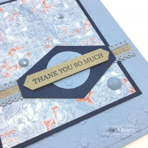 Woven Heirlooms Thank You Card in My Favorite Color!