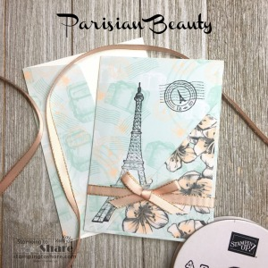 Parisian Beauty for Elegant Birthday Cards with Parisian Blossoms Specialty Paper