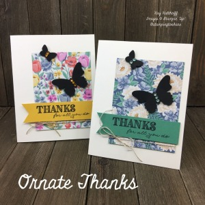 How to Make a Quick Card with Ornate Thanks and Memories & More Card Pack