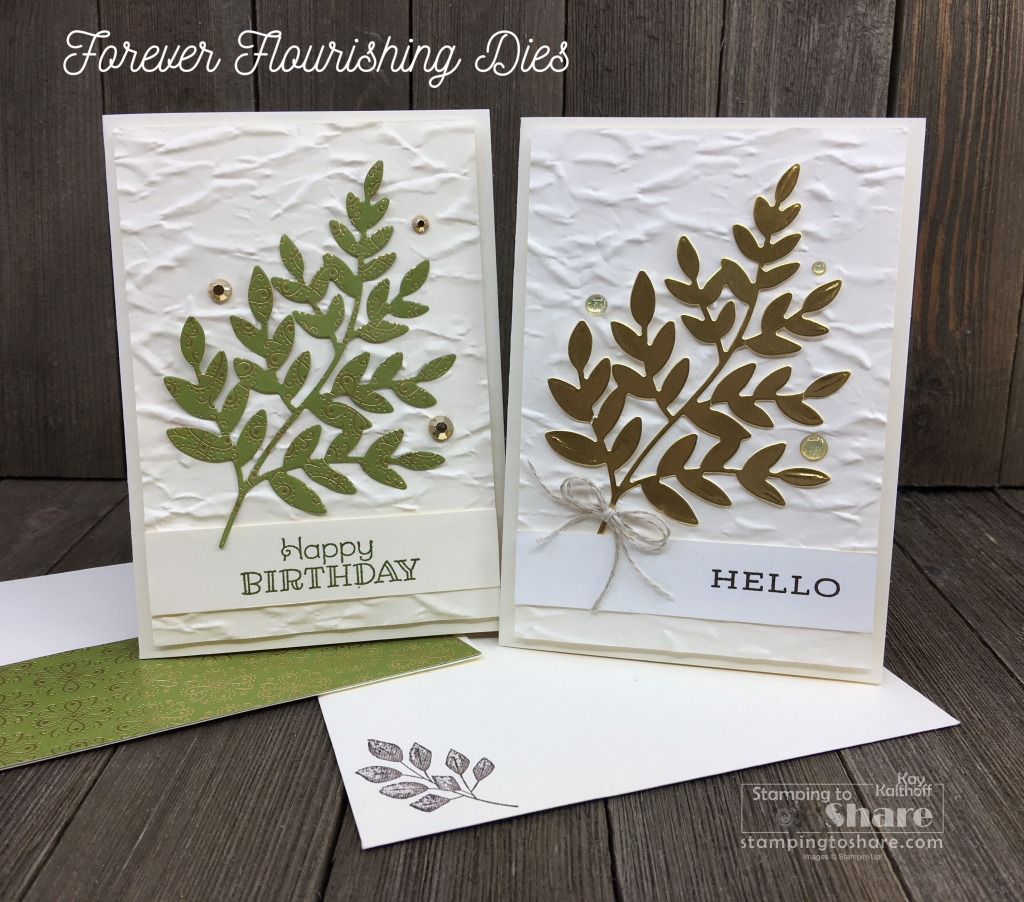 Nature Note Cards with Forever Fern Bundle & Rustic Retreat