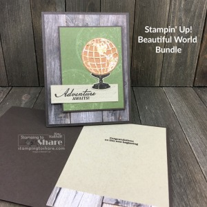 How to Make Masculine Cards with Beautiful World Bundle