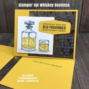 How to Make a Card with Stampin' Up! Whiskey Business