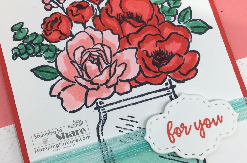 How to Create and Color with the Jar of Flowers Stamp Set