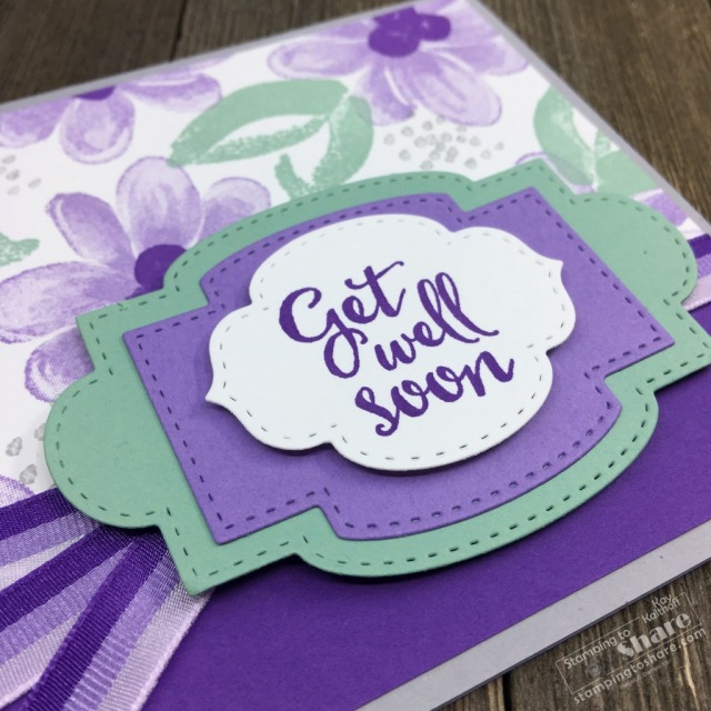 How to Make a Gorgeous Posies Get Well Card